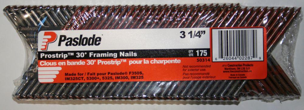.120 X 3-1/4 Inch Strip Nail Smooth Shank - 5 Strip Pack
