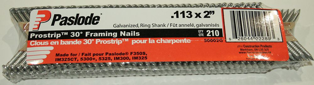 Paslode 2 Inch Hot Dipped Strip Nails