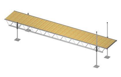 Modular Truss Dock 24 Feet x 4 Feet