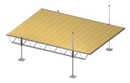 Modular Truss Dock 16 Feet x 12 Feet