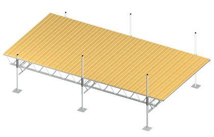 Modular Truss Dock 24 Feet x 12 Feet