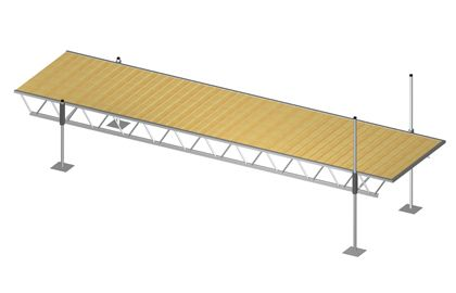 6 ft. x 24 ft. Modular Truss Dock