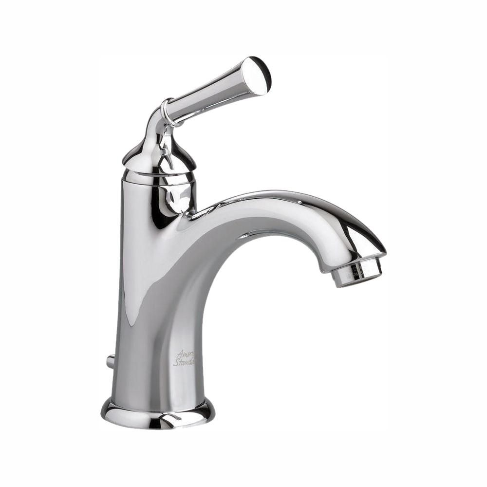 Portsmouth Single-Handle Mid-Arc Bathroom Faucet with Speed Connect Drain in Polished Chrome