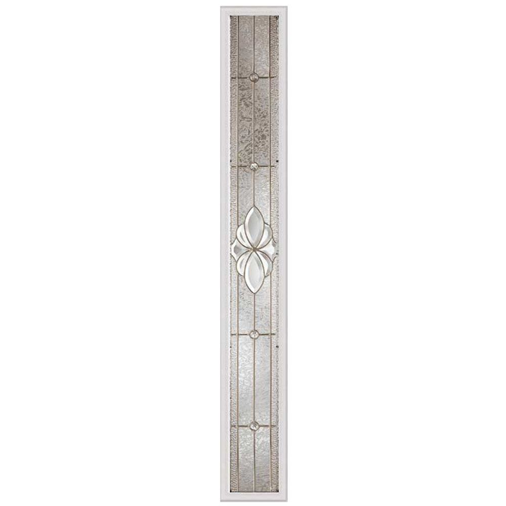 Heirlooms 7-inch x 64-inch Sidelight Satin Nickel Caming with HP Frame