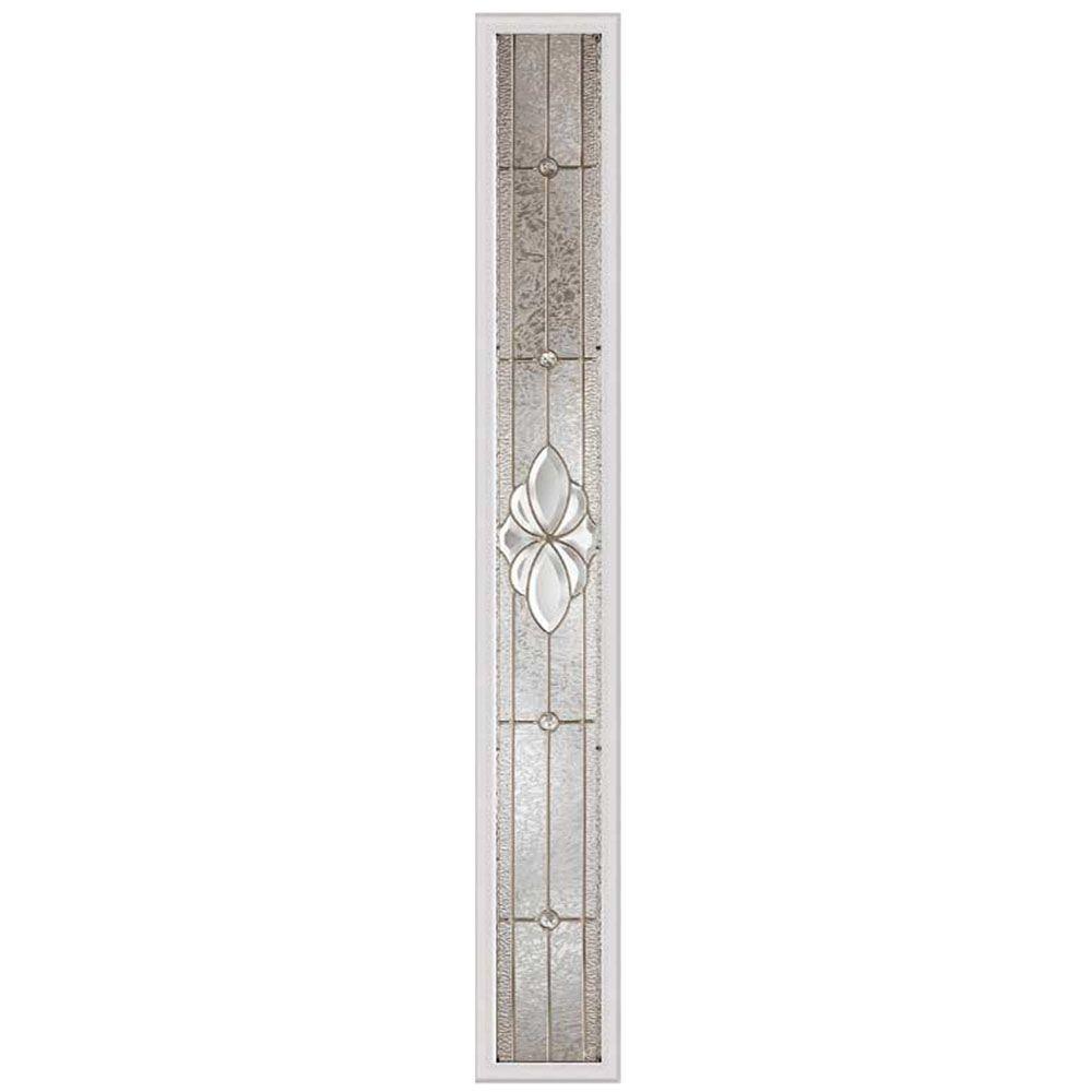 Panneau vitré latéral heirlooms 07x64 rubans nickel satiné avec cadre HPMC