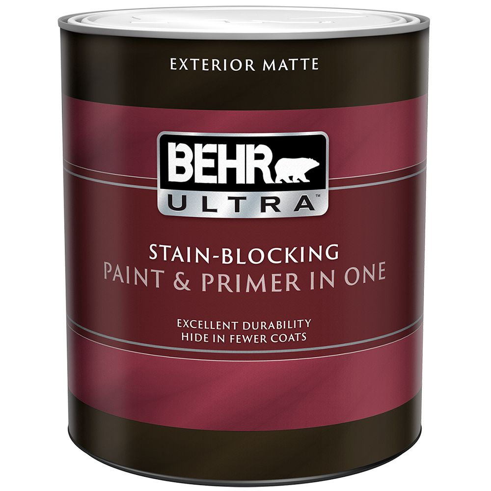 exterior paint primer in one flat medium base 946 ml. Black Bedroom Furniture Sets. Home Design Ideas