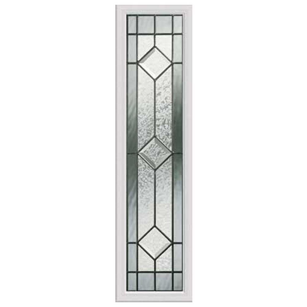 Panneau vitré latéral majestic 08x36 rubans patinés avec cadre HPMC
