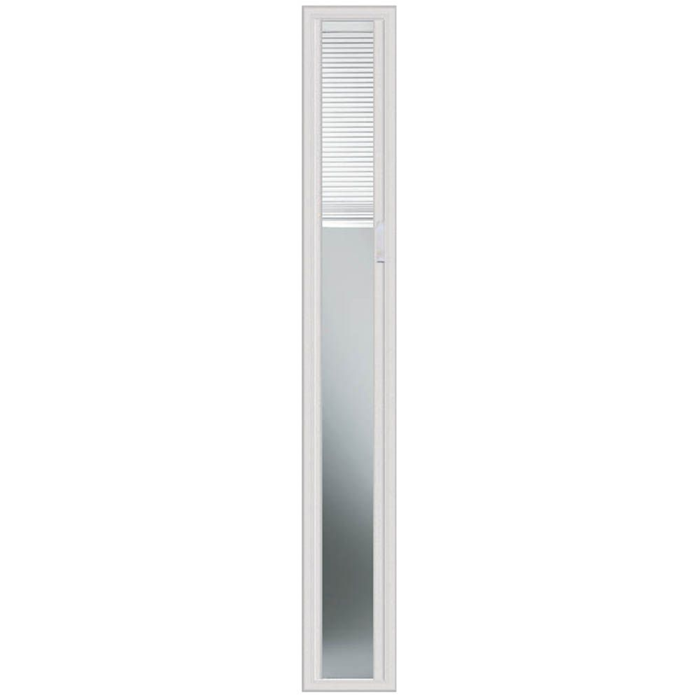 8-inch x 64-inch Light-Touch Enclosed Blinds Sidelight with HP Frame