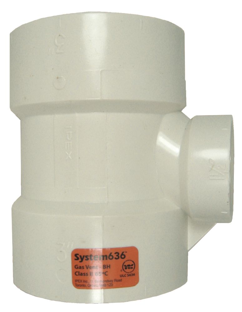 PVC-FGV TEE 3 inches x 1 1/2 inches H - System 636<sup>®</sup>