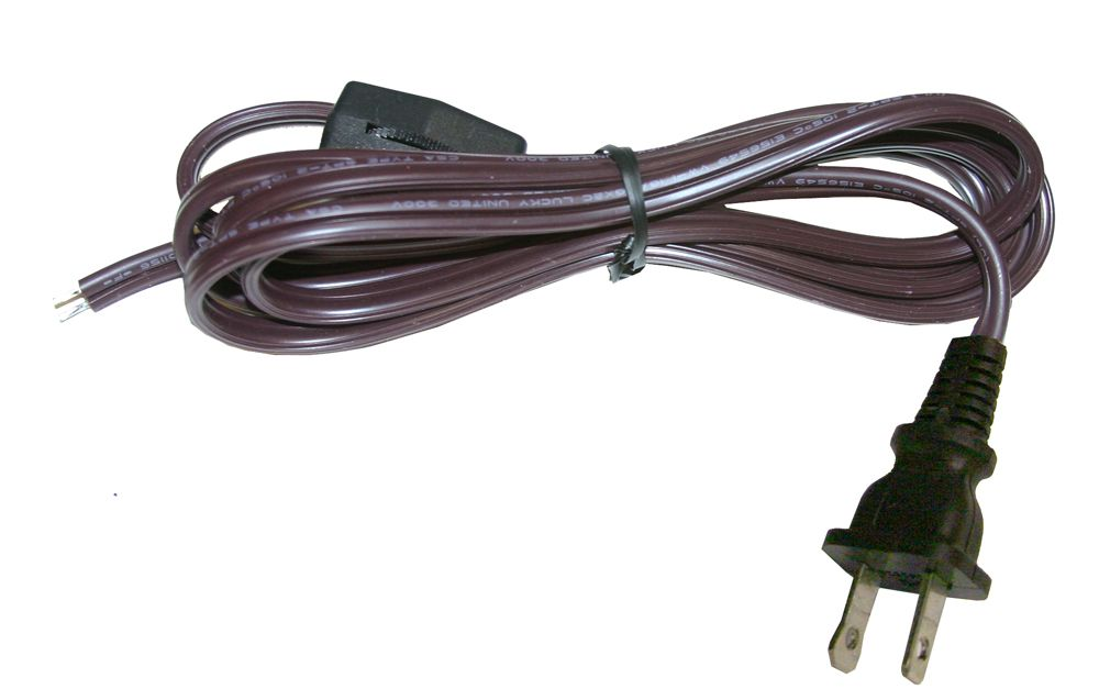 Brown Lamp Cord - 6 Feet (1.83 m)