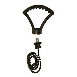 Atron Oil Rubbed Bronze Fan Finial / Pull Chain with 12 Inch (30.5 cm) Oil-Rubbed Bronze Beaded Chain