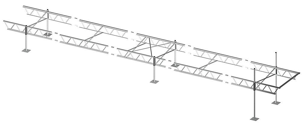 6 ft  x 40 ft  Modular Truss Dock