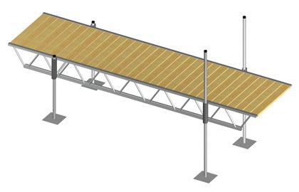 Modular Truss Dock 16 Feet x 4 Feet
