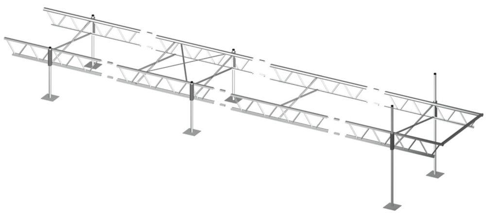 Quai modulaire à armature de 32pi x 4pi