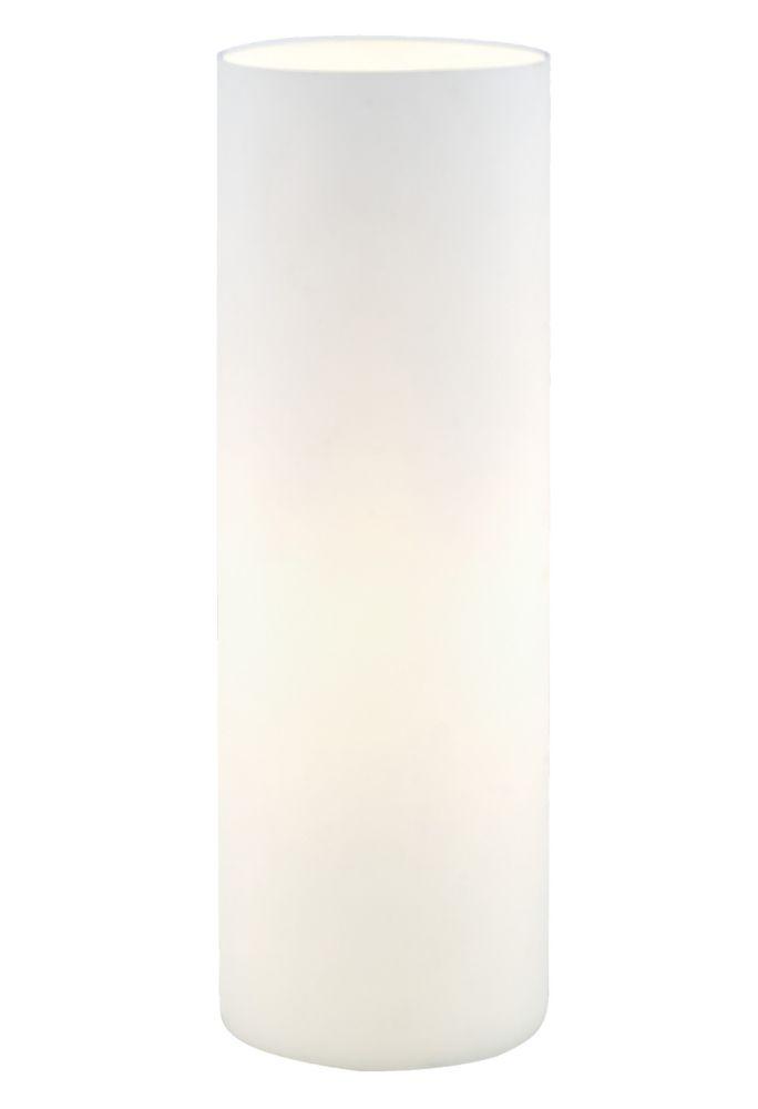 Geo Lampe de Table, Verre Blanc Opaque
