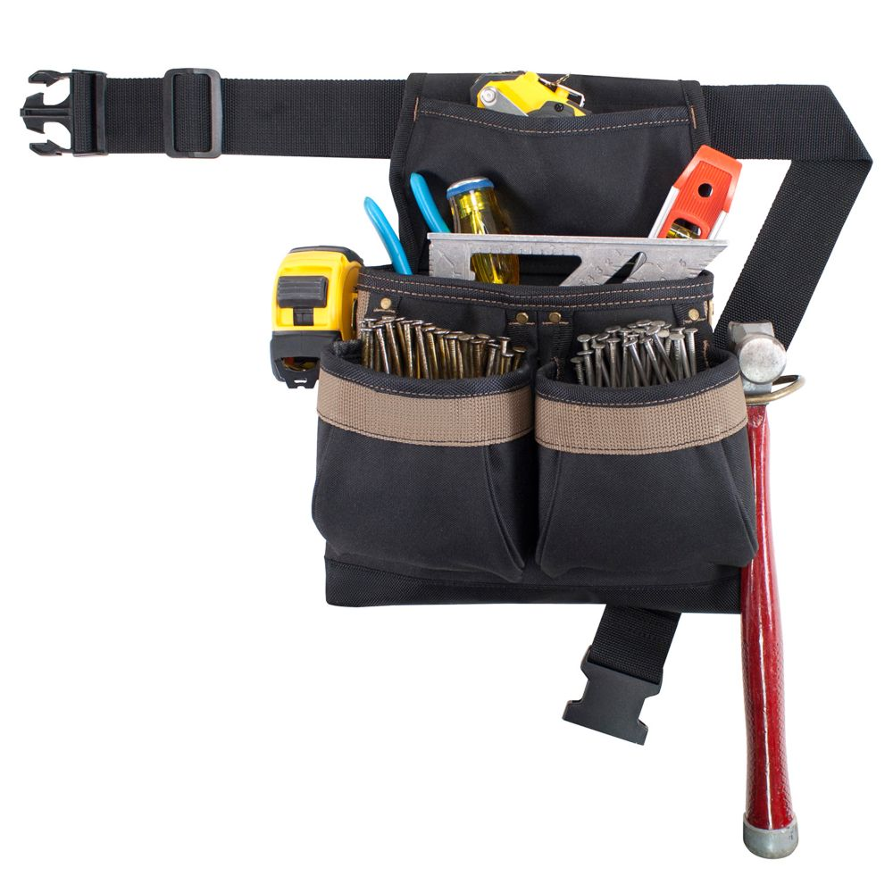 5 Pocket Nail & Tool Pouch With Belt