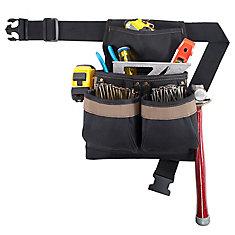 5 Pocket Framers Nail & Tool Bag with Poly Web Belt