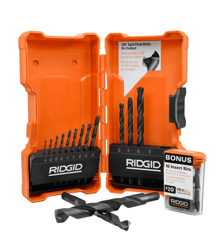 14-Piece Black Oxide Drill Bit Set