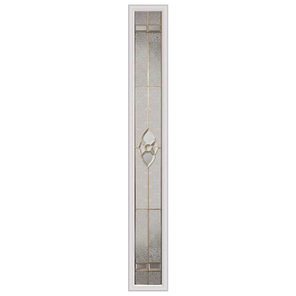 Nouveau 7-inch x 64-inch Sidelight Brass Caming with HP Frame