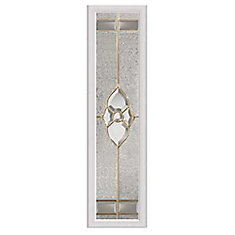 Nouveau 8-inch x 36-inch Sidelight Brass Caming with HP Frame