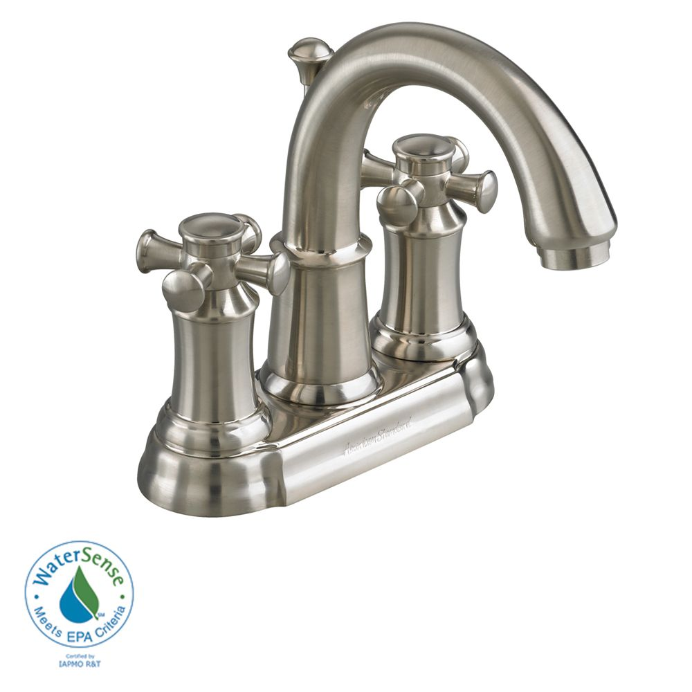 Portsmouth 4-inch 2-Handle High-Arc Bathroom Faucet with Speed Connect Drain in Satin Nickel Fini...