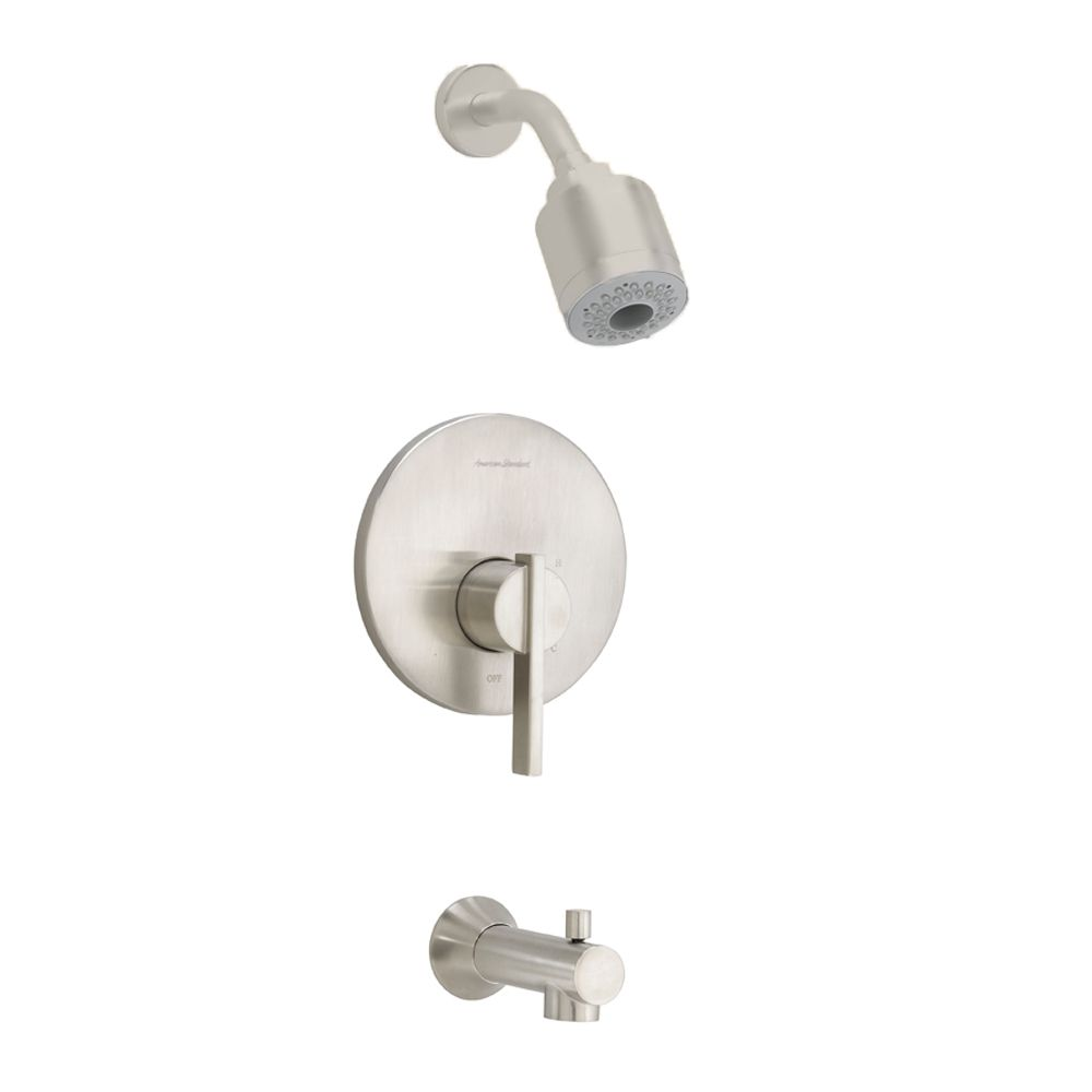 Berwick Bath/Shower Faucet with 3-Function Showerhead in Satin Nickel