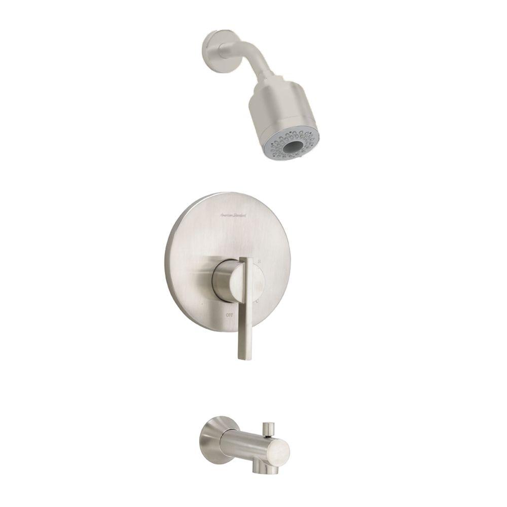 Berwick - Ensemble de garniture pour douche/baignoire, pomme de douche triple fonction en nickel ...