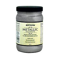 Rust-Oleum Metallic Accents Latex Paint In Sterling Silver, 946 Ml