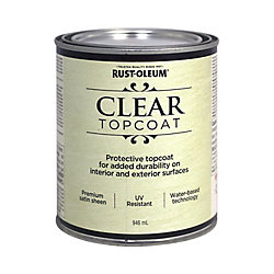 Rust-Oleum Metallic Accents Water Based Top Coat In Satin Clear, 946 mL