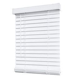 Home Decorators Collection Store en similibois de 5,08 cm (2 po), blanc – 107 cm x 183 cm (42 po x 72 po)