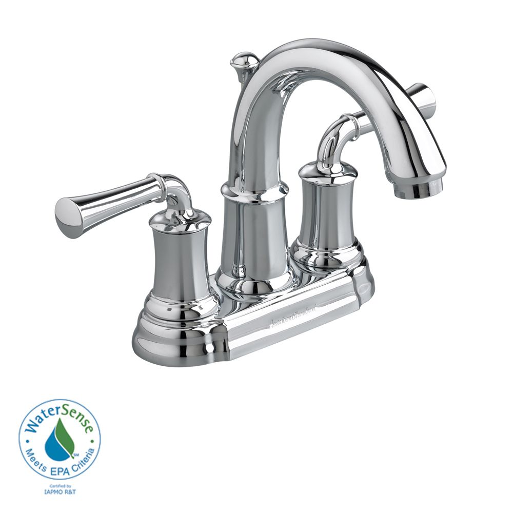 Portsmouth 4-inch 2-Handle High-Arc Bathroom Faucet with Speed Connect Drain in Polished Chrome F...