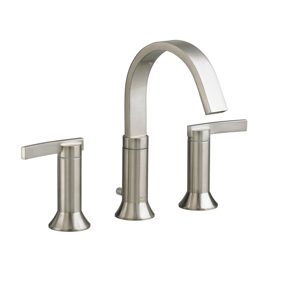 Berwick 8 Inch Widespread 2-Handle High-Arc Bathroom Faucet in Satin Nickel with Speed Connect Drain 7430.801.295 in Canada