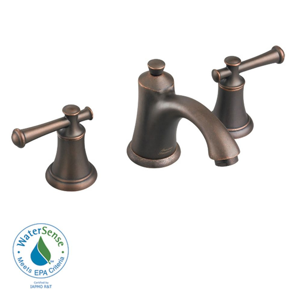 Portsmouth 8-inch 2-Handle Faucet with Speed Connect Drain and Lever Handles in Oil Rubbed Bronze