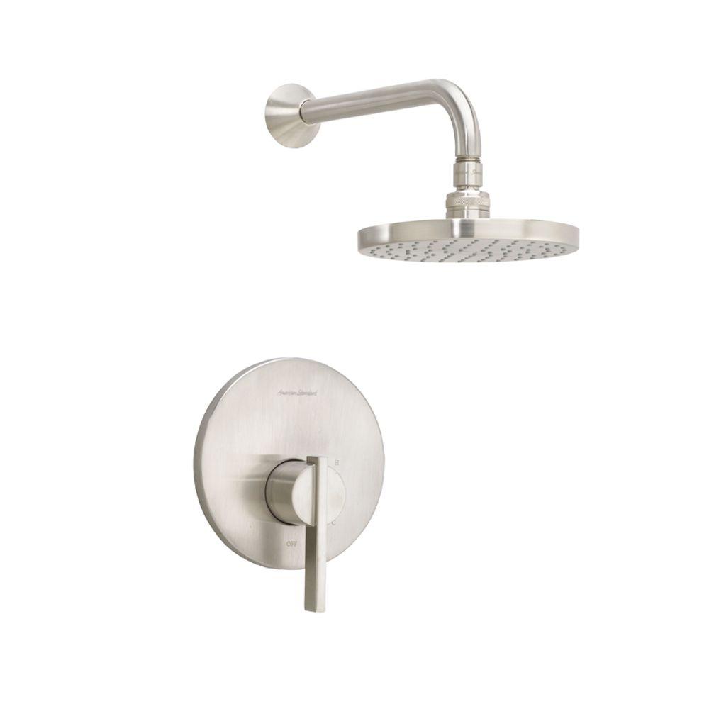 Berwick - Ensemble de garniture pour douche uniquement, pomme de douche à effet pluie en nickel s...