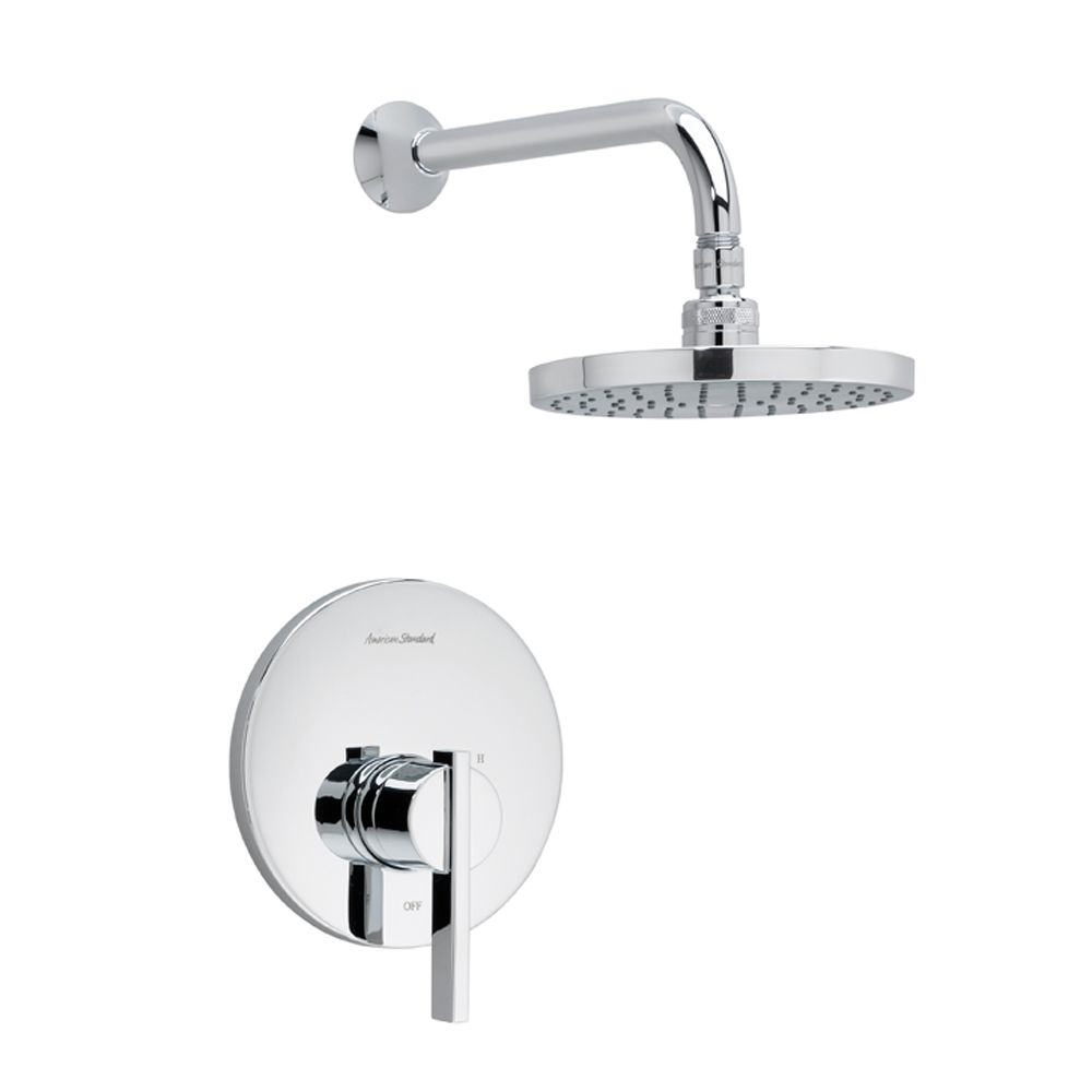 Berwick Shower Faucet with Rain Showerhead in Polished Chrome