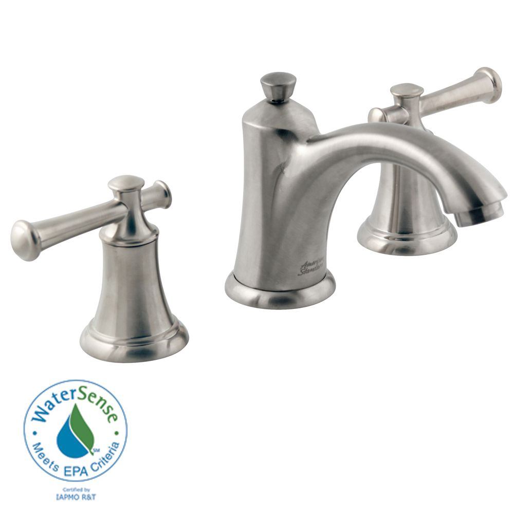 Portsmouth 8-inch 2-Handle Faucet with Speed Connect Drain and Lever Handles in Satin Nickel
