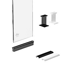 RailBlazers Glass Panel Kit, 6 In. - Clear
