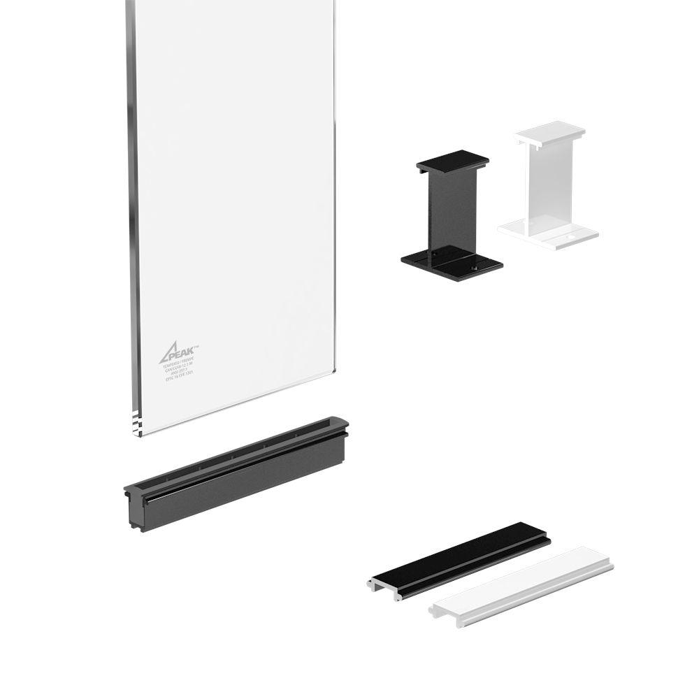 RailBlazers 6 inch Clear Glass Panel Kit