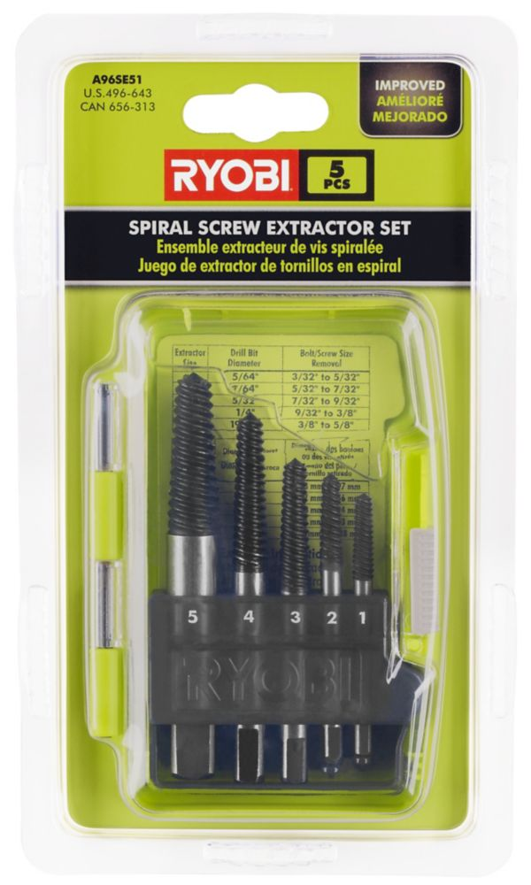 5 Piece Spiral Screw Extractor Set A96SE51 in Canada