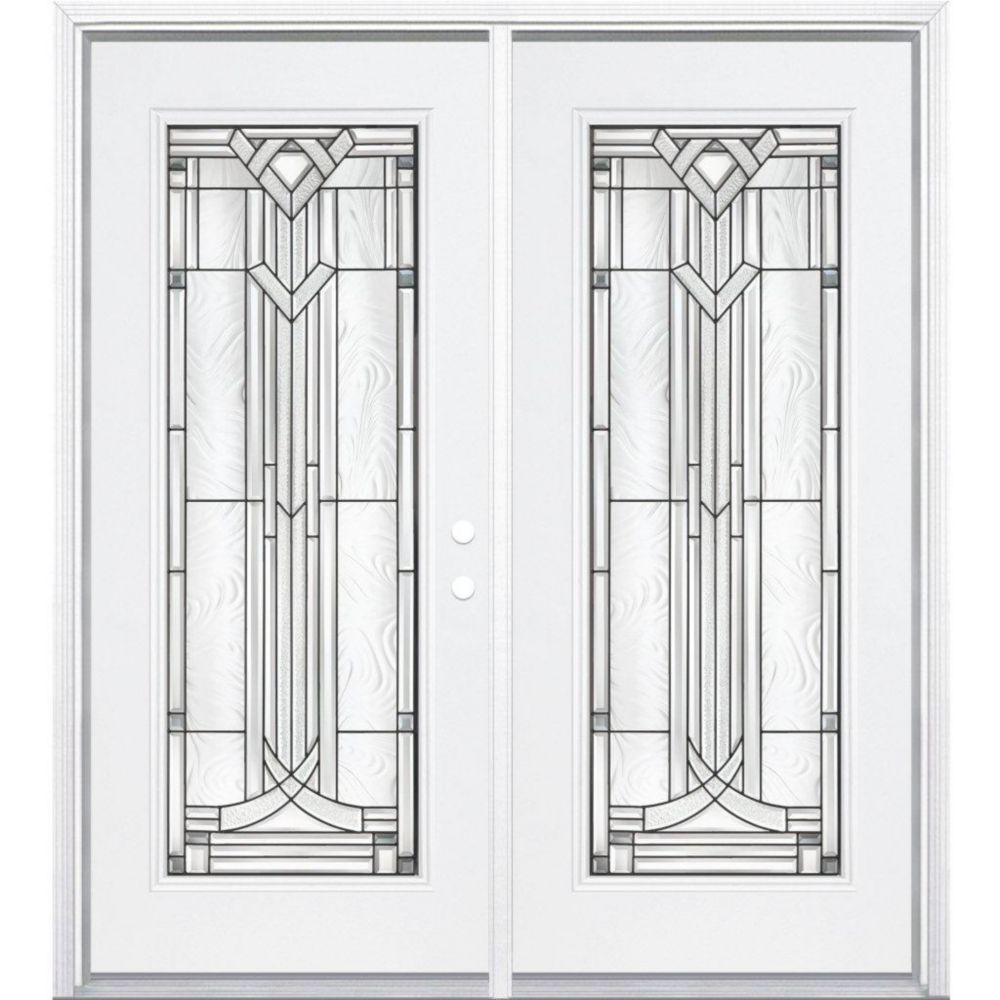 72-inch x 80-inch x 6 9/16-inch Antique Black Full Lite Left Hand Entry Door with Brickmould