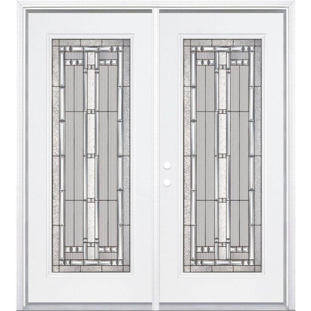 Masonite 68 inch x 80 inch x 4 9 16 inch antique black for 16x80 door