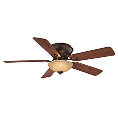 Adonia 52-inch 5-Blade Oil-Rubbed Bronze Indoor Ceiling Fan with Light Kit and Reversible Blades