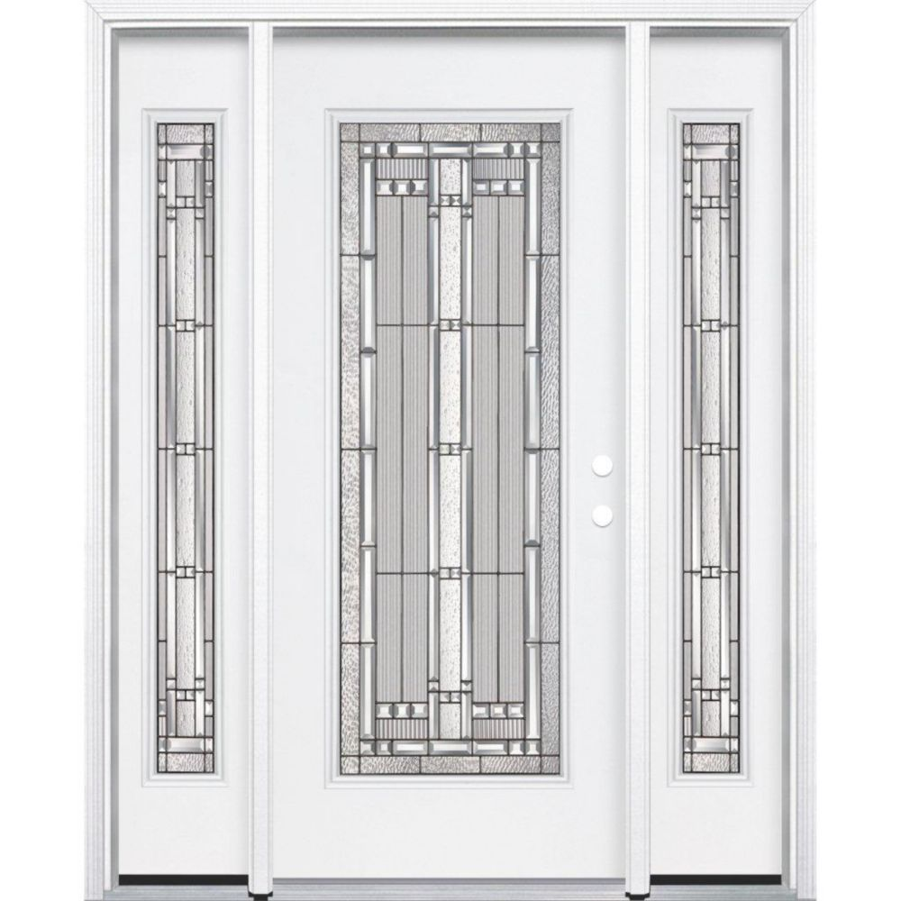 65-inch x 80-inch x 4 9/16-inch Antique Black Full Lite Left Hand Entry Door with Brickmould - ENERGY STAR®