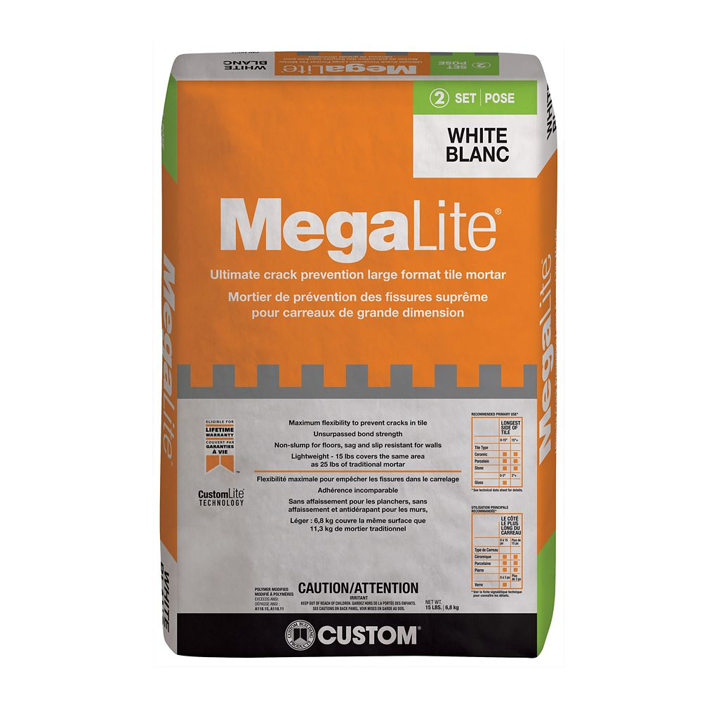 MegaLite Crack Prevention Mortar 15 lb. (6.804 kg.)