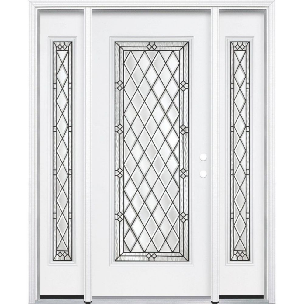 67-inch x 80-inch x 6 9/16-inch Antique Black Full Lite Left Hand Entry Door with Brickmould