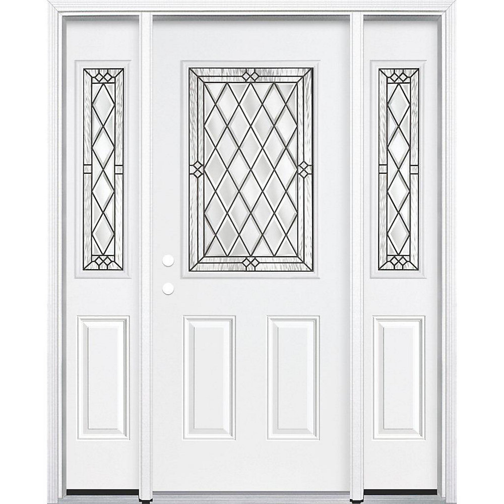 Mobile Home Replacement Doors Exterior: 65-inch X 80-inch X 6 9/16-inch Antique Black 1/2-Lite