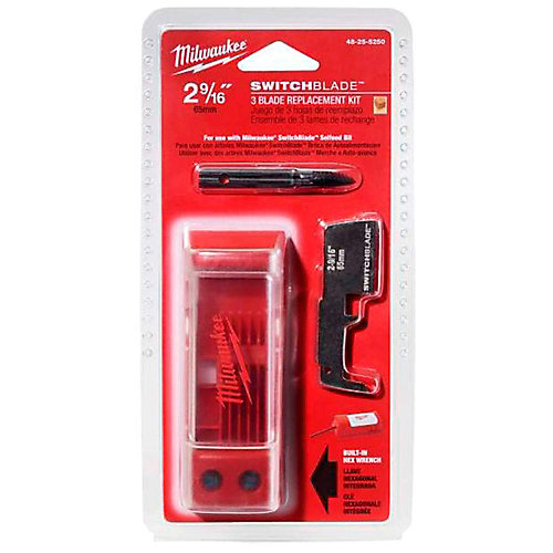 2-9/16-inch Switchblade Blade Replacement Kit (3-Blade)