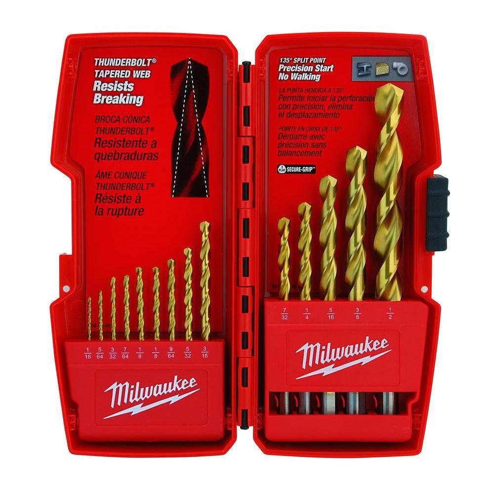 14-Piece Thunderbolt<sup>®</sup> Titanium Coated Drill Bits