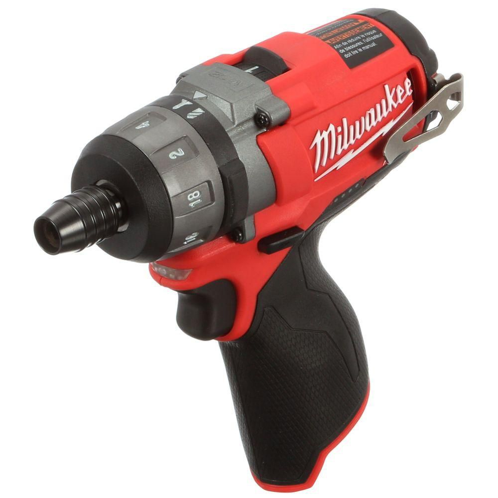 Milwaukee Tool M12 FUEL 12V Lithium-Ion Brushless Cordless 1/4 -Inch Hex 2-Speed Screwdriver (Tool-Only)