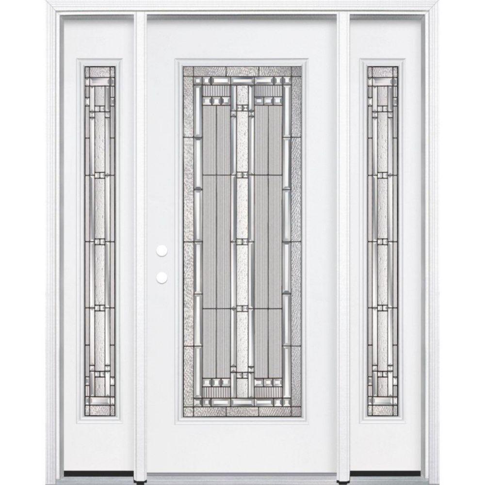 Masonite 65 inch x 80 inch x 4 9 16 inch antique black for 16 x 80 door